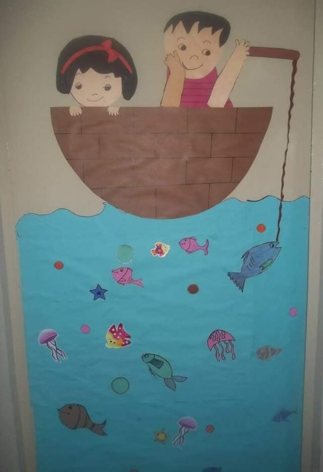 Fish in the water painting for kids Easy Sunday School Craft Ideas for Kids
