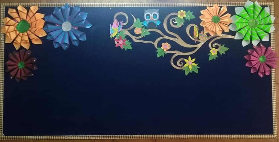 Blackboard decoration sunday craft ideas