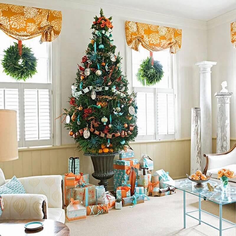 Ivy green with pastel green color scheme for Christmas Christmas Color Schemes For Decoration