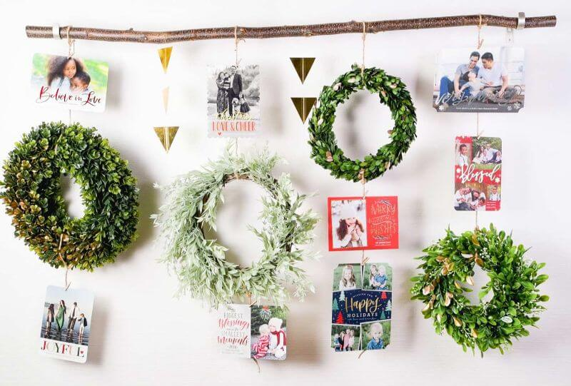 Wreaths for Christmas in different shades of green Christmas Color Schemes For Decoration