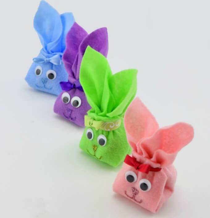 Bunny pockets DIY bunny craft ideas DIY Bunny Craft Ideas & Video Tutorials
