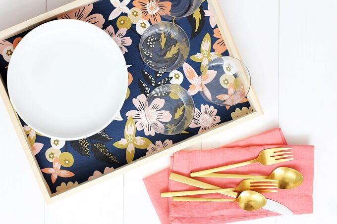 Fancy Floral DIY Serving Tray Ideas