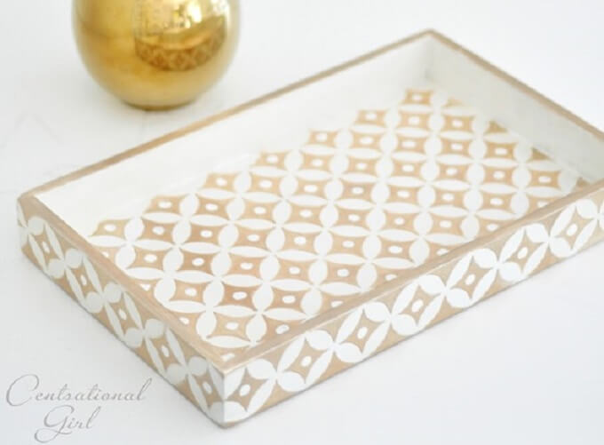Patterned DIY Serving Tray Ideas