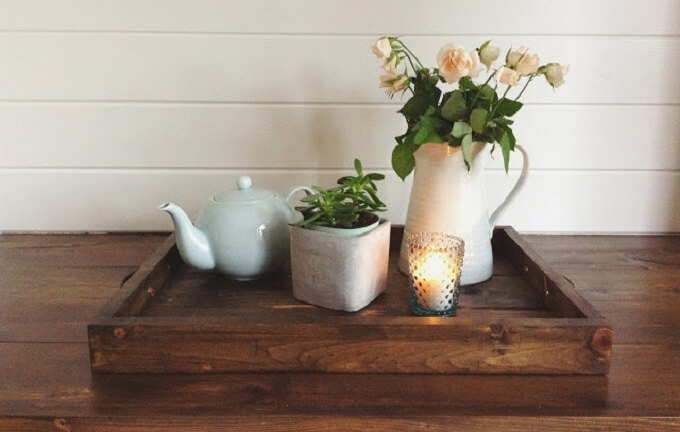 Wooden DIY Serving Tray Ideas
