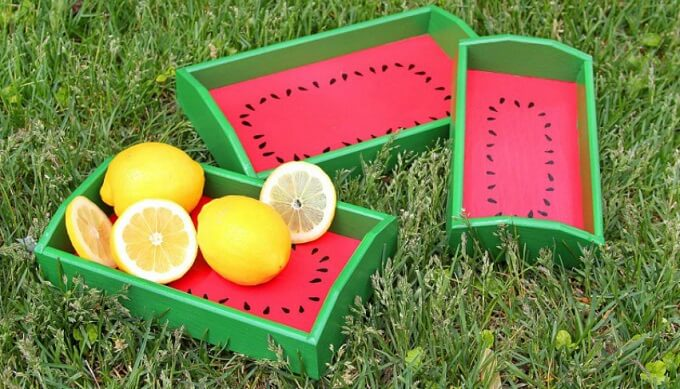 Fruity DIY Serving Tray Ideas