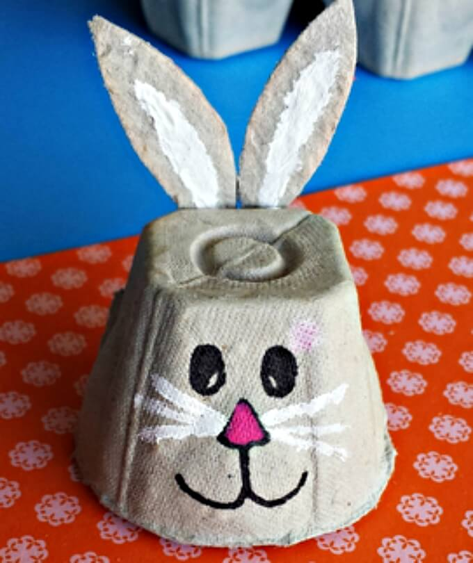 Egg crates DIY bunny craft ideas DIY Bunny Craft Ideas & Video Tutorials