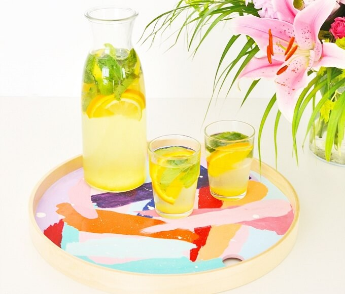 Fresh And Modern DIY Serving Tray Ideas