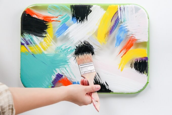Paint Splash DIY Serving Tray Idea