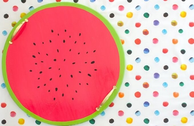 Watermelon Punch DIY Serving Tray Idea