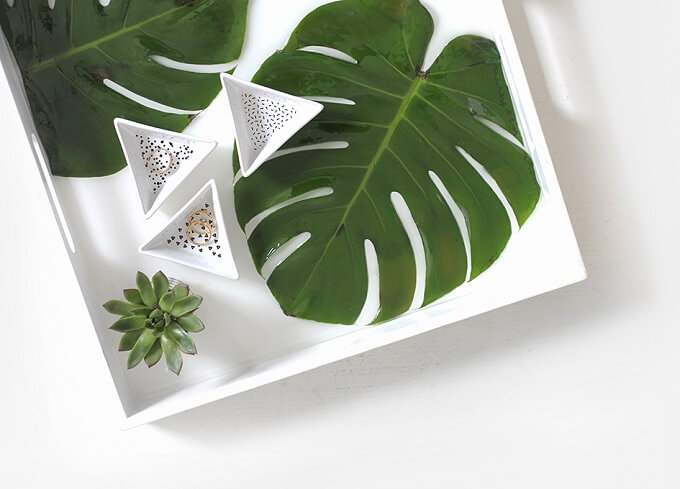 Leafy DIY Serving Tray Idea