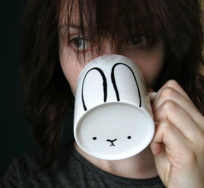 Mug DIY bunny craft ideas DIY Bunny Craft Ideas & Video Tutorials