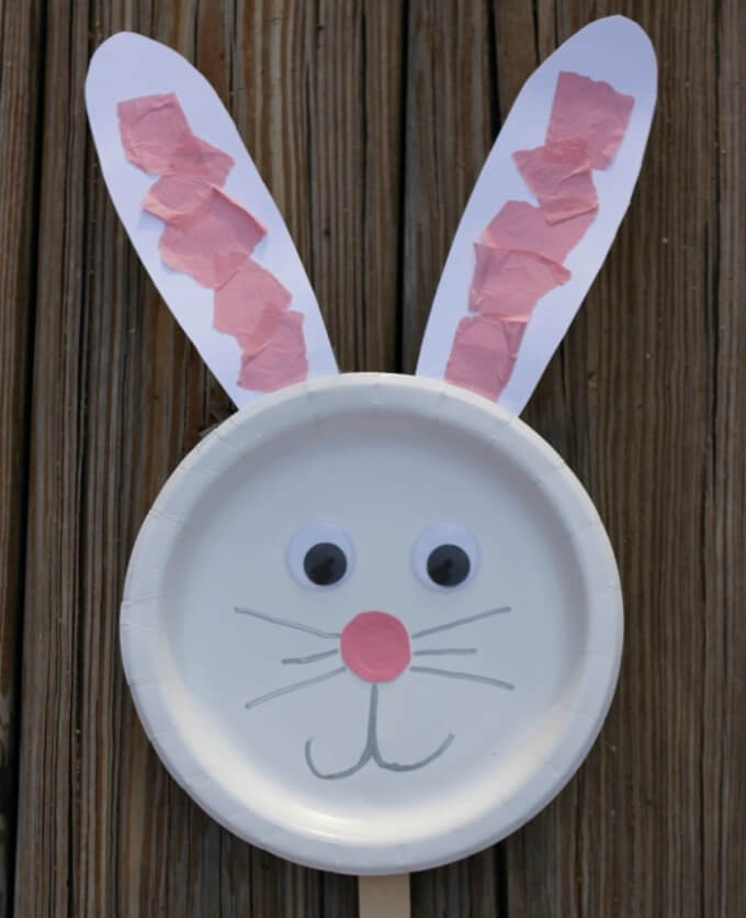 Paper plate DIY bunny craft ideas DIY Bunny Craft Ideas & Video Tutorials