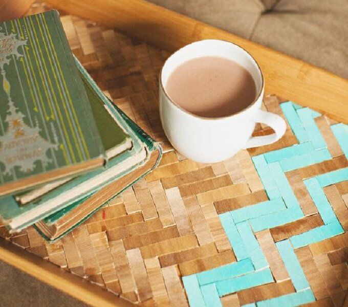Woven DIY Serving Tray Idea