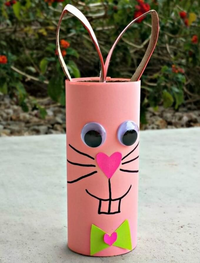 Toilet Paper DIY bunny craft ideas DIY Bunny Craft Ideas & Video Tutorials