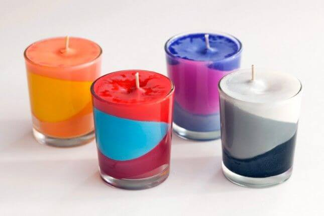 crayon candles DIY Candle Decoration Ideas for Festivals, Birthdays and Celebrations