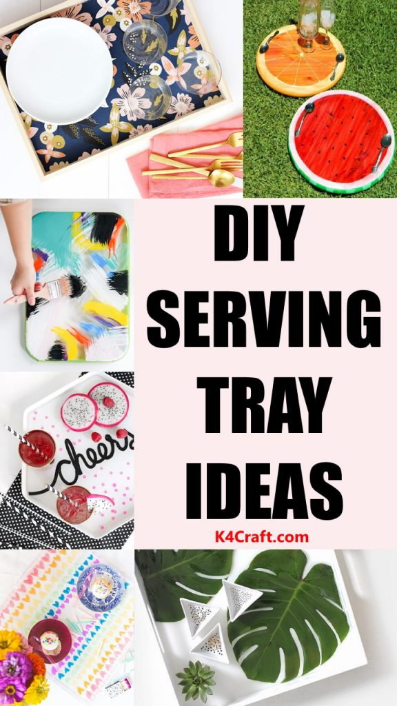 Serve your guest with these creative DIY serving trays and impress them with your art! You can easily decor your plastic or wooden try with these painted tray ideas.