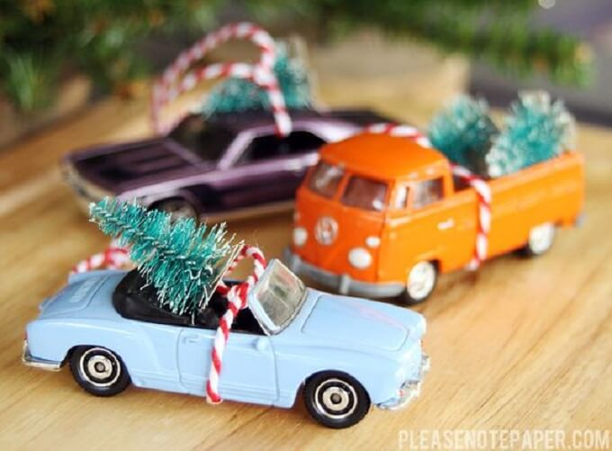 Beautiful Homemade Christmas trees Unique DIY Homemade Christmas Ornaments