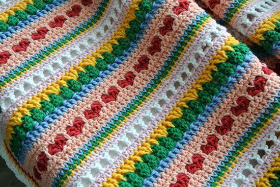 Crochet Heart Patterns Mat