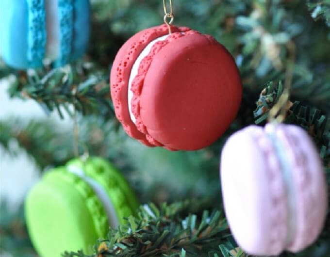 Tasty macaroon Christmas Ornaments Unique DIY Homemade Christmas Ornaments
