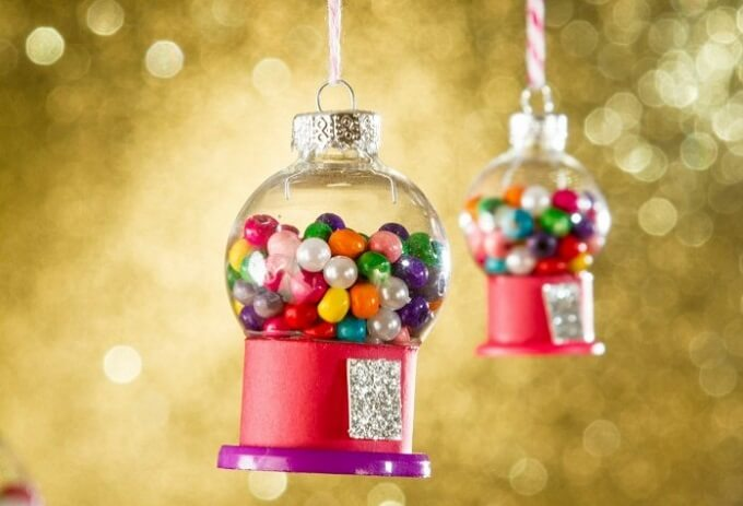Beautiful candy jars Christmas Ornaments Unique DIY Homemade Christmas Ornaments