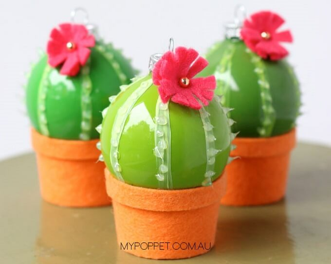 Homemade cactus Ornaments Unique DIY Homemade Christmas Ornaments