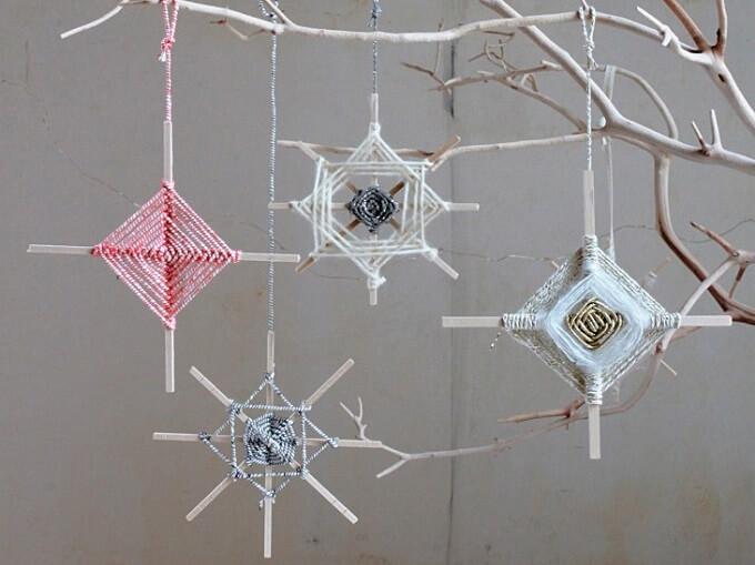 Homemade yarn Christmas Ornaments Unique DIY Homemade Christmas Ornaments
