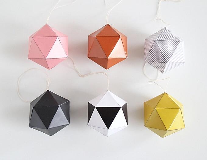 Origami technique Christmas Ornaments Unique DIY Homemade Christmas Ornaments