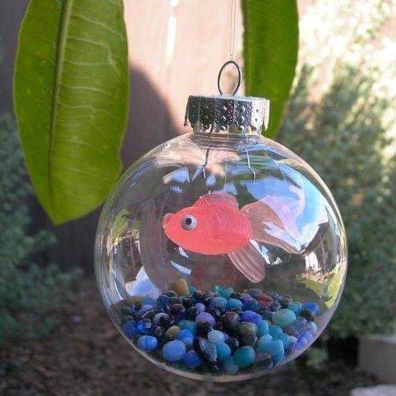 Fish in a bowl Christmas Ornaments Unique DIY Homemade Christmas Ornaments