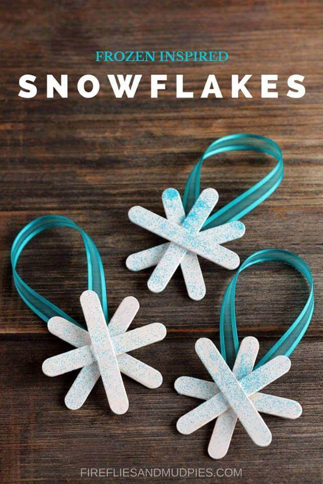 Snowflake Homemade Christmas Ornaments Unique DIY Homemade Christmas Ornaments