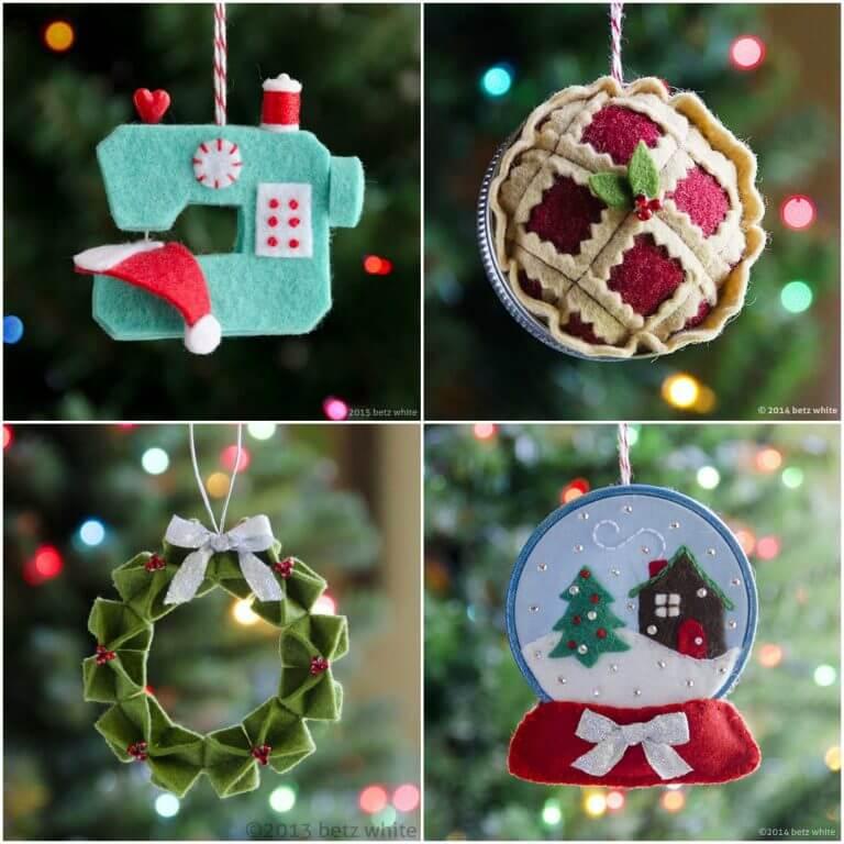Homemade beautiful Ornaments Unique DIY Homemade Christmas Ornaments