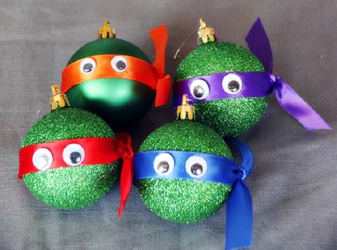Ninja turtles Christmas Ornaments Unique DIY Homemade Christmas Ornaments