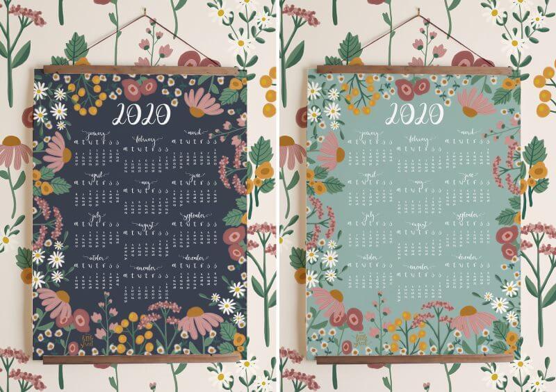 Beautiful, Tropical Calendar 2020
