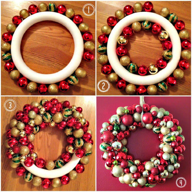 Beautiful Christmas Decor Wreath Christmas Themed Crafts | Step by Step Image Tutorials