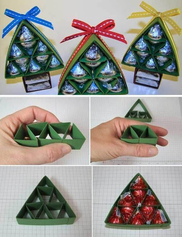 Chocolate Christmas Tree Step by Step Tutorial Christmas Themed Crafts | Step by Step Image Tutorials