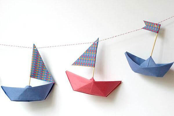 Easy Origami Paper Crafts For Kids (Step By Step Instructions) - Easy Origami Boats