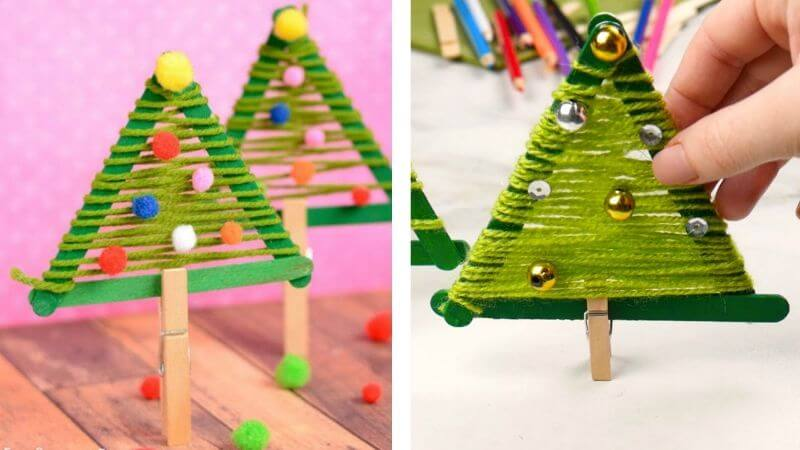 Creative Christmas Tree Craft For kids.