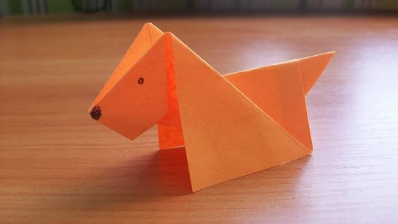 How to make an origami dog face step by step. - YouTube | 317x564