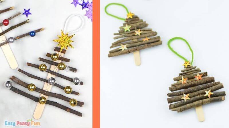 Easy Christmas Tree Craft With Twigs
