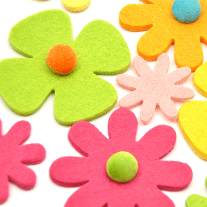 Easy to make Felt cloth flowers Easy to Make File Folder Games for Kids