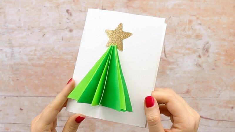 Handmade 3D Christmas Tree Card Idea