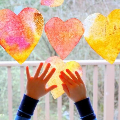 Valentine's Day Heart shaped Suncatcher