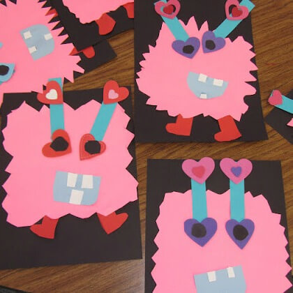 Love Monster Craft for Elementary Students
