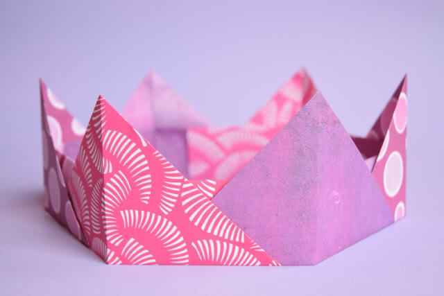 Easy Origami Paper Crafts For Kids (Step By Step Instructions) - Origami Crown