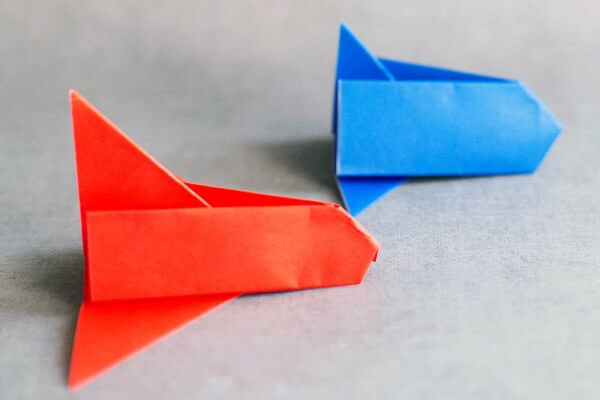Easy Origami Paper Crafts For Kids (Step By Step Instructions) - Origami Space Shuttle