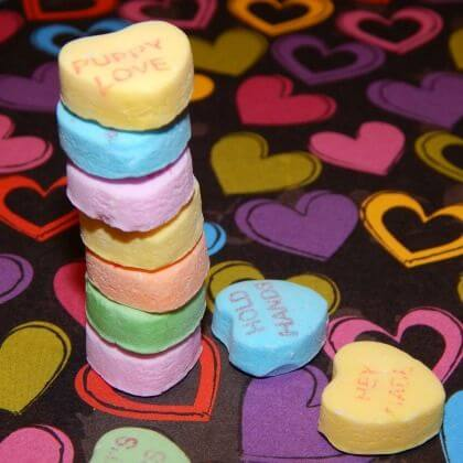 Stacking Hearts fun for Valentine's