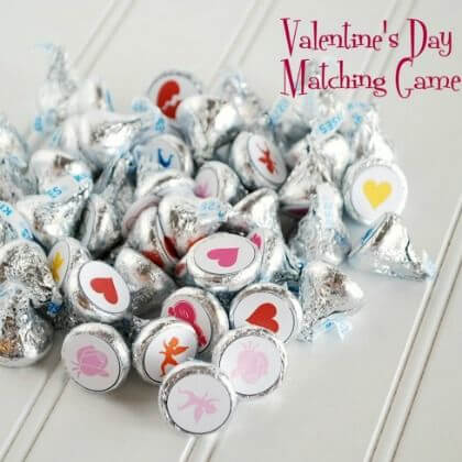 Matching game Valentine's Day Activities for Preschool Kids