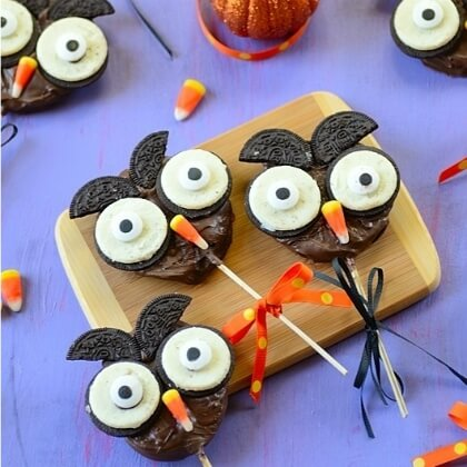 Owl Chocolate candy DIY Fall Snacks for Kids