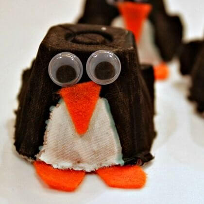 Beautiful Egg carton Penguin craft Penguin Craft Ideas for Kids
