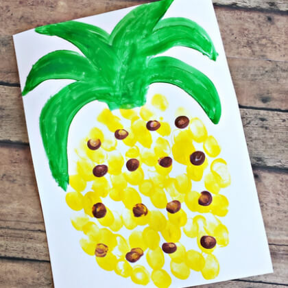 Pineapple crafts for toddlers Yellow Crafts for Toddlers