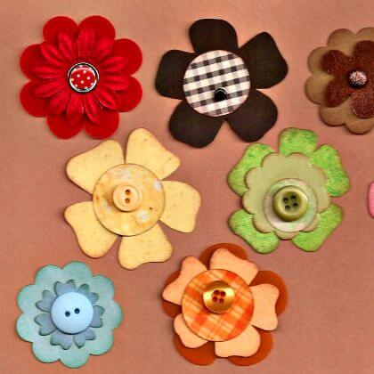 Making colorful flowers using felt cloth Easy to Make File Folder Games for Kids